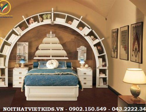 Trang trí nội thất phòng ngủ bé trai chủ đề Biển