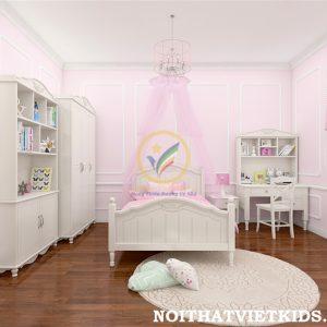 Phòng ngủ tân cổ điển cho bé gái