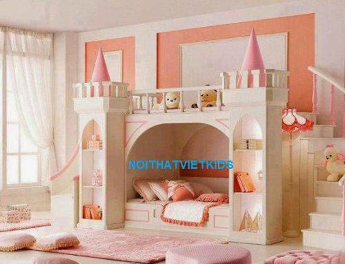 Bộ sưu tập 5 mẫu thiết kế giường tầng lâu đài đáng yêu cho bé