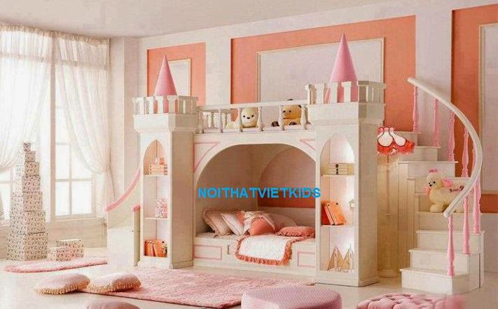 Giường tầng lâu đài công chúa