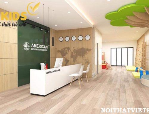 Thiết kế và thi công nội thất trường mầm non American Montessori