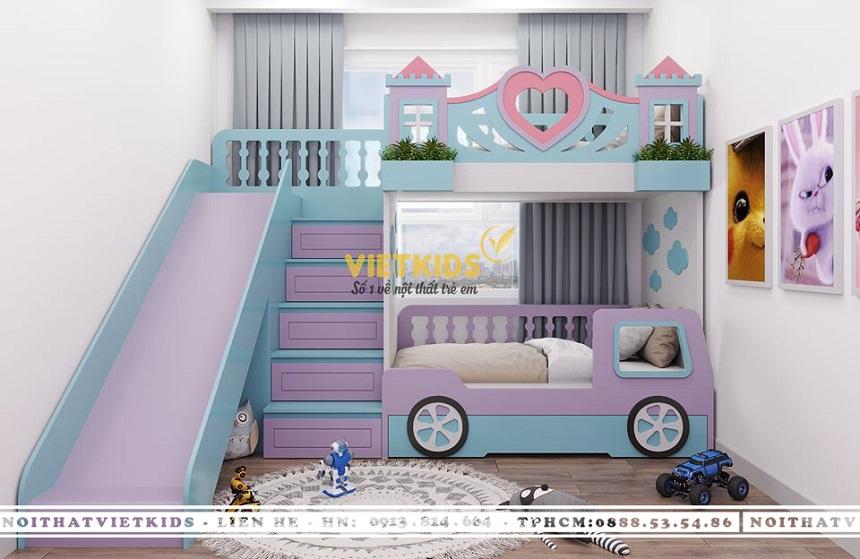 25+ Mẫu Giường Tầng Cầu Trượt Độc Đáo & Đáng Yêu